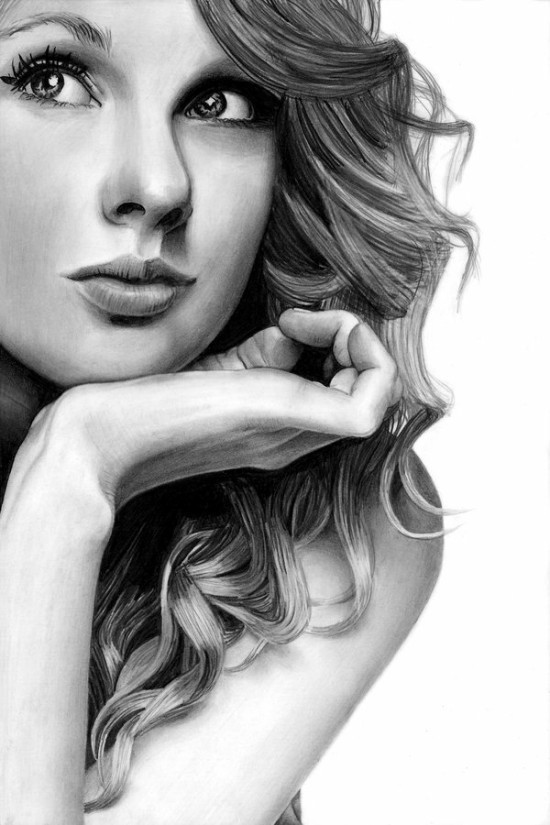 By theGaffney<br /> http://thegaffney.deviantart.com/art/Taylor-Swift-Pencil-Drawing-161567900