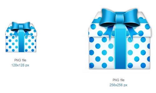 礼品图标<br /><br /> 24×24像素,32×32像素,48×48像素,64×64像素,128×128像素,256×256像素和512×512像素<br /><br /> http://www.softicons.com/free-icons/holidays-icons/christmas-icon-set-by-mkho/gift-icon