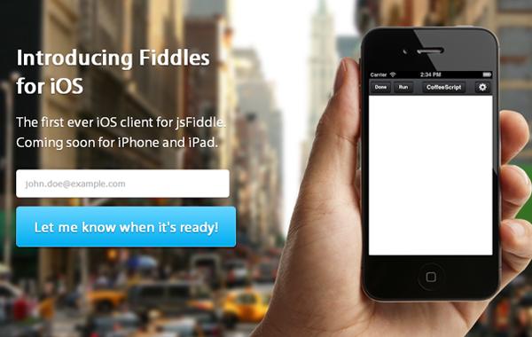 FiddlesApp iOS jsFiddle iphone mobile