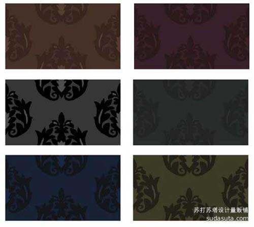 6个巴洛克风格的碎花背景图案<br /> http://beeex.net/