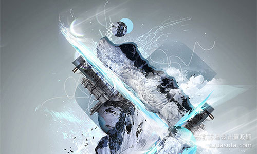 寒冷的雪主题插图<br /> http://psd.tutsplus.com/tutorials/illustration/make-a-freezing-cold-snow-themed-abstract-piece/