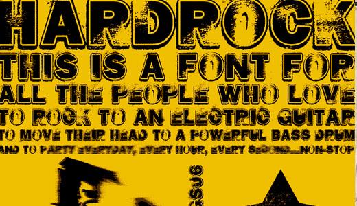 Hard Rock<br /> http://www.dafont.com/hard-rock.font