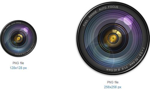 相机镜头图标<br /> http://www.softicons.com/free-icons/computer-icons/camera-lens-icon-by-gaucher/camera-lens-icon