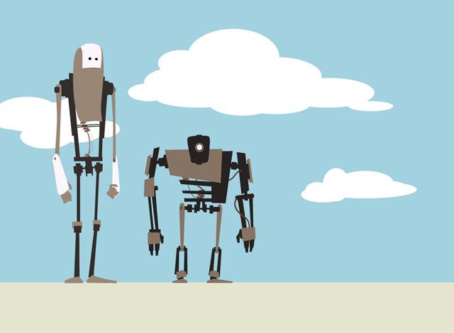 2个机器人<br /> http://www.adamvogel.net/2008/11/2-robots/