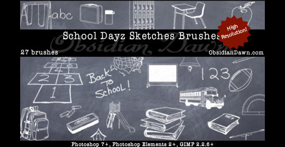 学校DAYZ草图刷<br /> http://redheadstock.deviantart.com/art/School-Dayz-Sketches-Brushes-100100554
