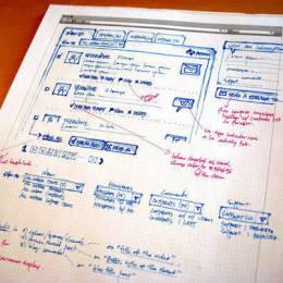 20例网页设计草图和线框图