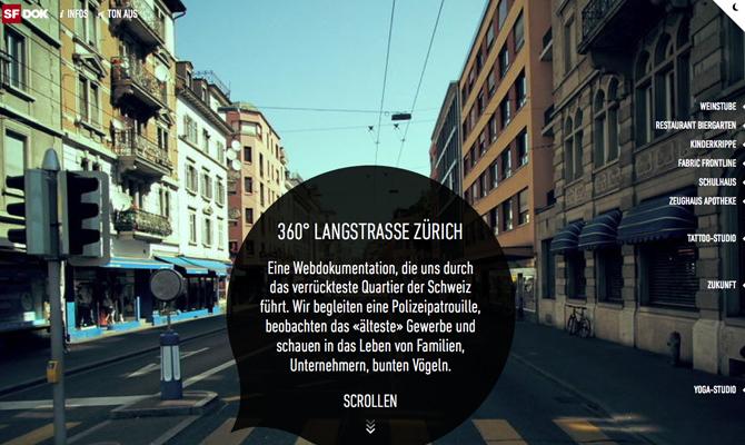 360° Langstrasse Zürich<br /> http://www.360langstrasse.sf.tv/