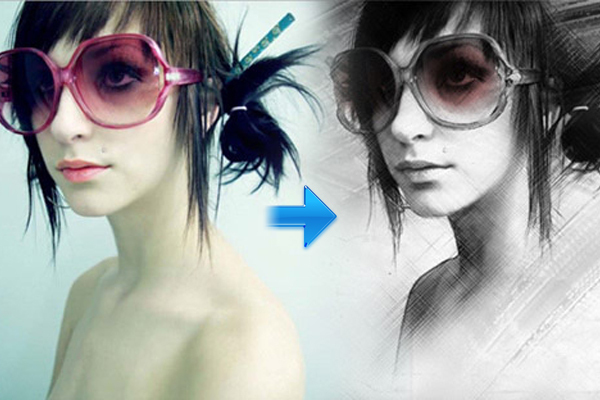 创建一个手绘效果Photoshop教程 http://www.hongkiat.com/blog/painting-effect-photoshop-tutorial/