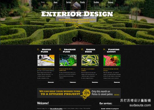 Demo:<br /> http://www.websitetemplatesonline.com/free-template/jQuery-Slider-Exterior-Design-Theme.html<br /> Download:<br /> http://www.templatemonster.com/free-templates/free-website-template-jquery-slider-exterior-design.php