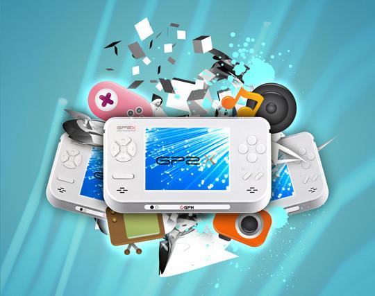 设计一个便携式游戏机海报<br /> http://www.photoshoplady.com/designing-a-portable-gaming-device-poster/
