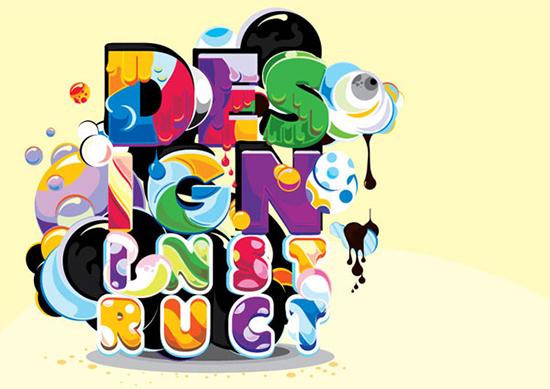 插图:实验项目的类型的数字化工作流程<br /> http://designinstruct.com/drawing-illustration/type-illustration-project-experimental-digital-workflow/