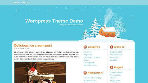 15个免费的圣诞WordPress的主题<br /> http://developerfox.com/15-interesting-christmas-free-wordpress-themes/638