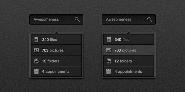 Dark Search Box & Drop Down<br /> http://www.premiumpixels.com/freebies/dark-search-box-drop-down-psd/