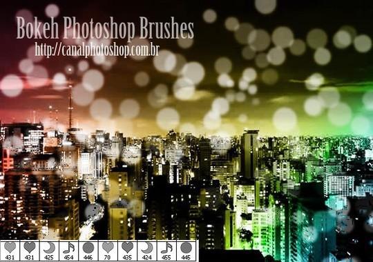 背景虚化的PS笔刷<br /> http://canalphotoshop.deviantart.com/art/Bokeh-Ps-Brushes-280265602