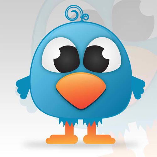 在Illustrator中创建一个可爱的Twitter鸟<br /> http://bloomwebdesign.net/myblog/2011/08/11/create-a-cute-twitter-bird-character-in-illustrator/