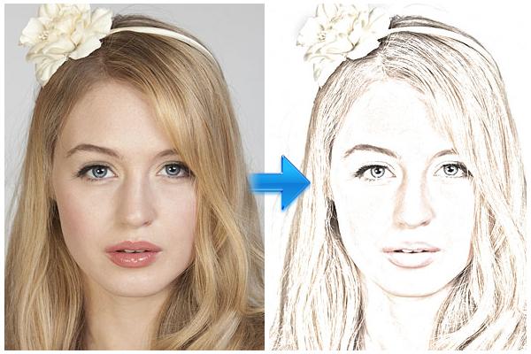 用Photoshop彩色素描肖像照片<br /><br /> http://www.photoshopessentials.com/photo-effects/portrait-to-sketch/