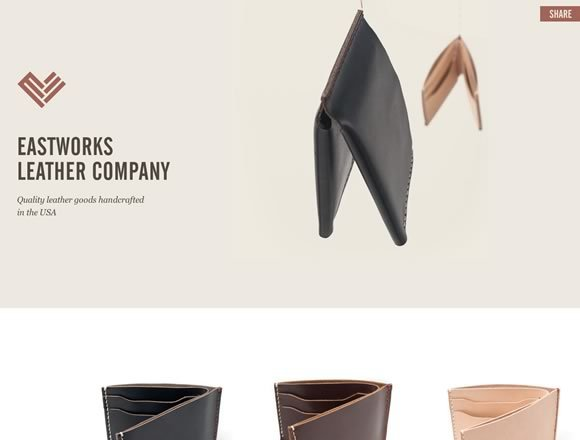 Eastworks Leather Company<br /> http://www.eastworksleather.com/