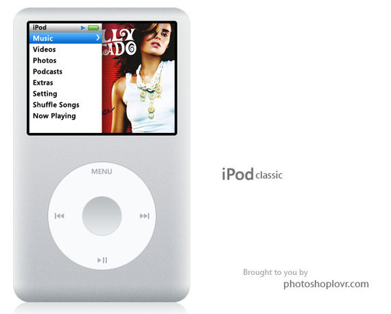 在Photoshop中绘制苹果iPod Classic<br /> http://www.avivadirectory.com/photoshop/make-an-ipod-classic-or-the-new-nano/