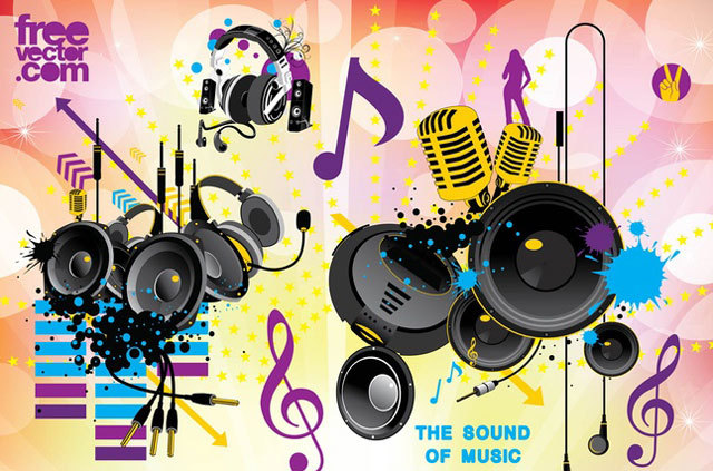Free Sound Vector Graphics<br /> http://www.freevector.com/free-sound-vector-graphics/