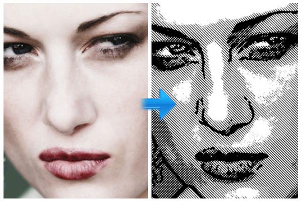 在Photoshop创建印刷效果的照片<br /><br /> http://blog.lynda.com/2012/01/17/dekes-techniques-turning-a-photo-into-a-line-drawing-in-photoshop/