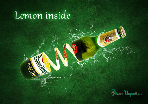 Lemon Side<br /> http://www.behance.net/gallery/Lemon-Inside-Pilsner-Urquell/3749233