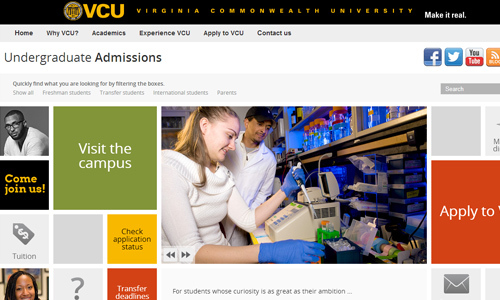 Virginia Commonwealth University<br /> http://www.ugrad.vcu.edu/index.html