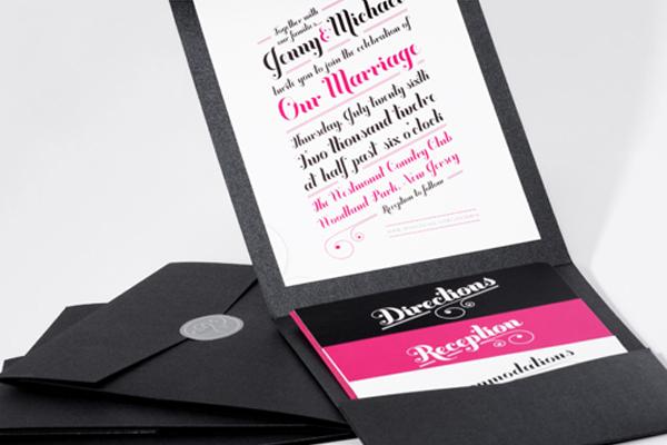 love luck printed wedding invitations