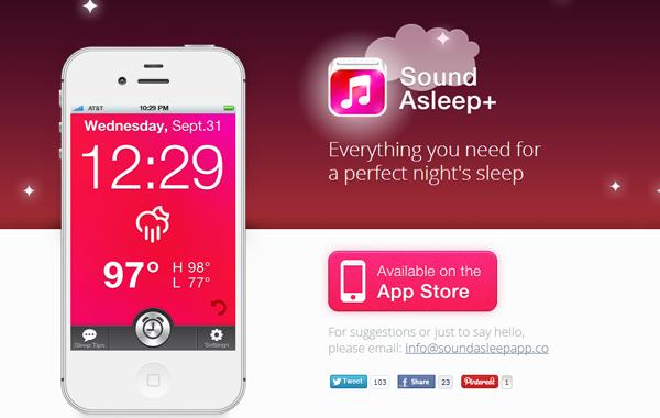 iPhone ios soundsleep landing page