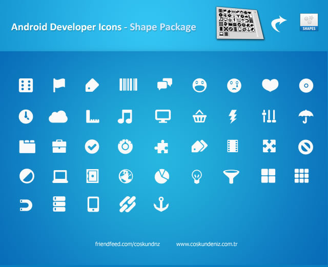 Android Icons (Custom Photoshop Shape)<br /> http://interfacedesigner.deviantart.com/art/Android-Icons-Shape-Package-193926795