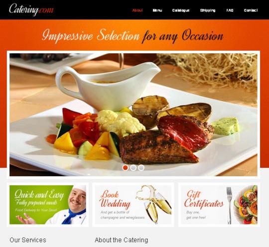 Demo:<br /> http://www.websitetemplatesonline.com/free-template/Free-Food-Delivery-Web-Template.html<br /> Download:<br /> http://blog.templatemonster.com/2012/01/23/free-website-template-jquery-slider-food-delivery-project/
