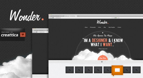 WONDER THEME – A FREE PSD SITE DESIGN<br /> http://www.blazrobar.com/2011/free-psd-website-templates/wonder-theme-a-free-psd-full-website-design/