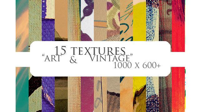 艺术与复古纹理(纹理)<br /> http://jocosity.deviantart.com/art/15-textures-art-vintage-68939740