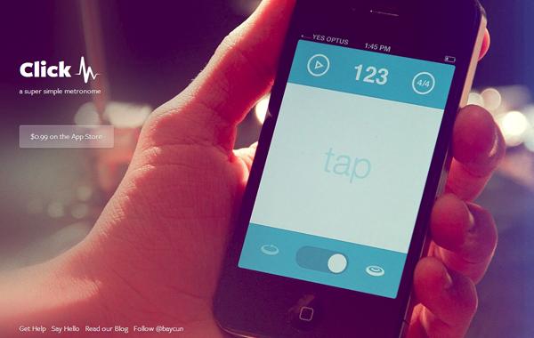 metronome ios iphone app landing webpage