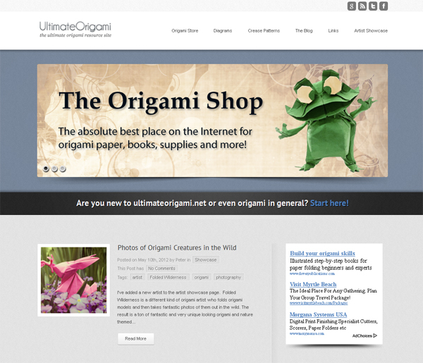 Ultimate Origami<br /> http://www.ultimateorigami.net/