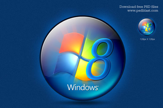 Free Windows 8 Logo<br /> http://psdblast.com/free-windows-8-logo-psd