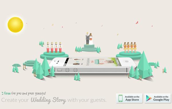merrymarry iphone ios app wedding mobile landing page