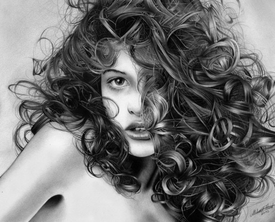By Regius<br /> http://regius.deviantart.com/art/Playful-curls-Pencil-drawing-184258289