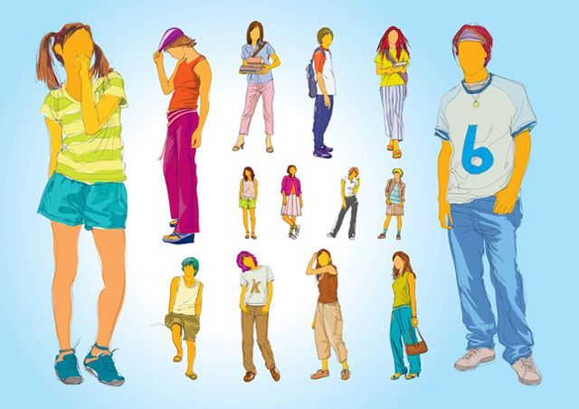 Teenager Illustrations<br /> http://www.freevector.com/teenager-illustrations/