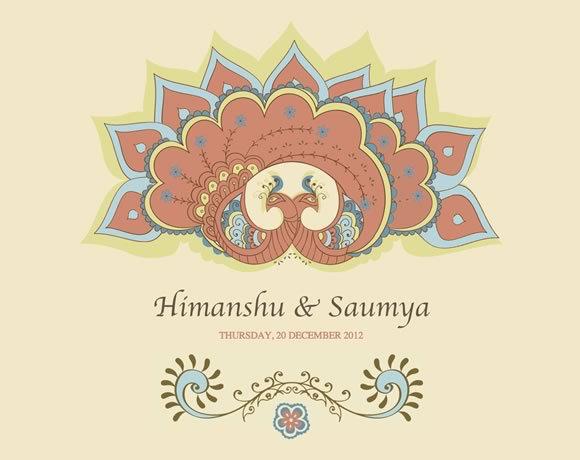 Himanshu & Saumya<br /> http://peacock.weddings9.com/