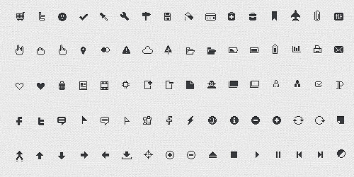 106像素完美图标<br /> http://www.premiumpixels.com/freebies/pixicus-icon-set-106-pixel-perfect-icons/