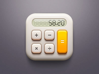 Calculator http://dribbble.com/shots/792756-Calculator