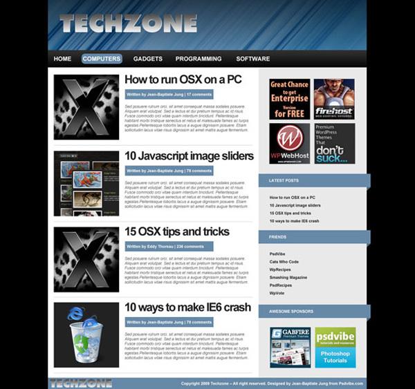 在Adobe Photoshop 绘制一个blog效果图 http://psdvibe.com/2009/06/22/creating-a-tech-blog-layout-in-adobe-photoshop/