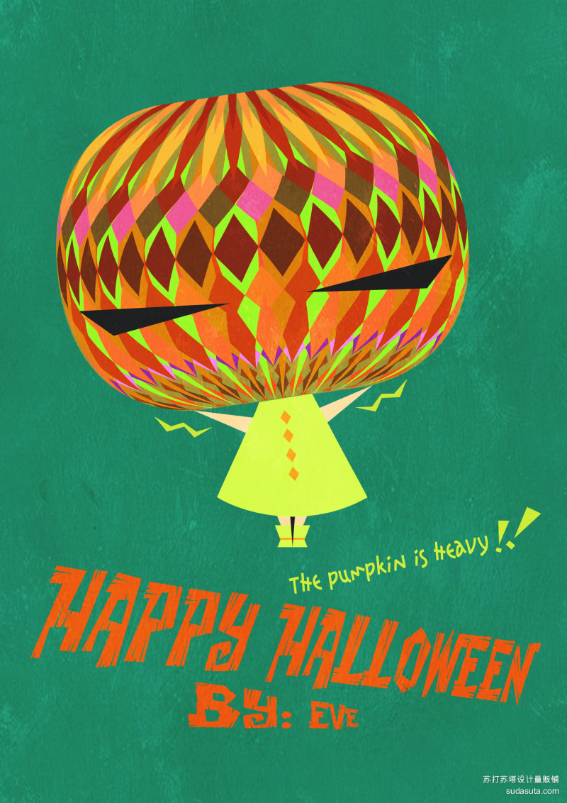 HAPPY HALLOWEEN!    【白日梦】 BY:Eve </p> <p> 万圣节快乐,这个南瓜头好沉啊!