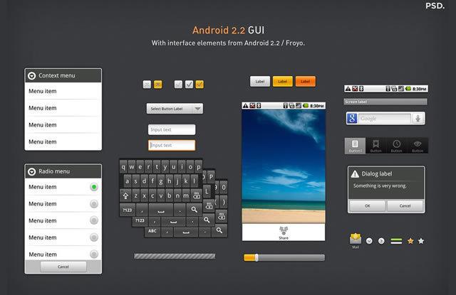 Android 2.2 GUI (PSD)<br /> http://thiago-silva.deviantart.com/art/Android-2-2-GUI-171047600