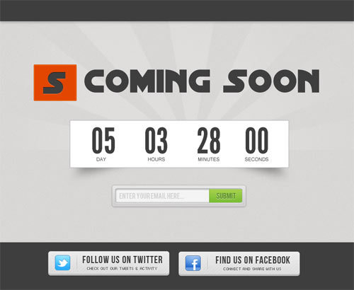 创建一个倒数计时器 http://sanjaykhemlani.com/create-coming-soon-page-with-countdown-timer/