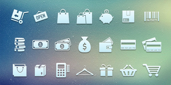 购物的图标PSD<br /> http://cdn.365psd.com/wp-content/uploads/2012/07/shopping_icons.zip