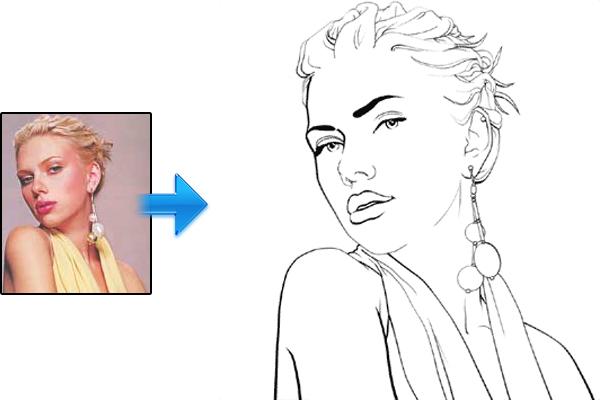 打开照片的人进入艺术线条<br /><br /> http://www.melissaevans.com/tutorials/turn-photos-of-people-into-line-art