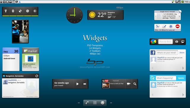 Android Widgets GUI (PSD)<br /> http://bharathp666.deviantart.com/art/Android-Widgets-182178250