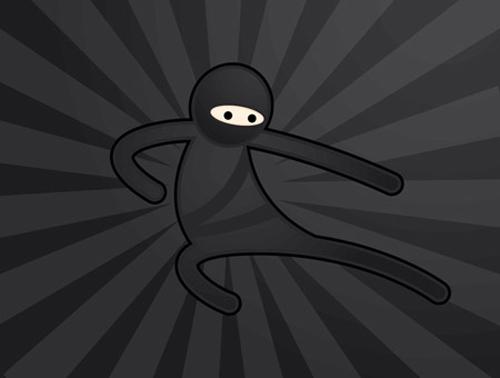 在Illustrator中创建一个简单的忍者<br /> http://blog.spoongraphics.co.uk/tutorials/create-a-simple-vector-ninja-character-in-illustrator