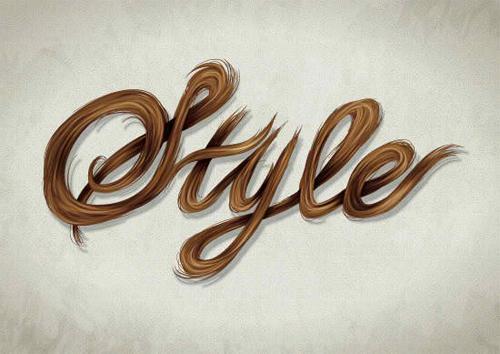 在Illustrator绘制复古效果的头发文字<br /> http://vector.tutsplus.com/tutorials/text-effects/vector-hair-typography/